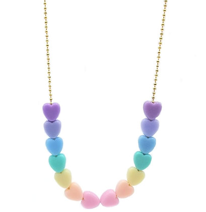Pastel Heart Necklace (new!)