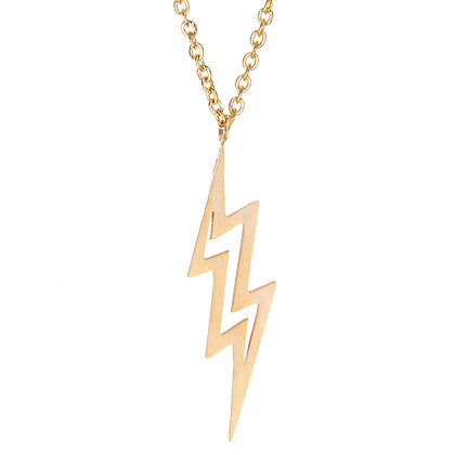 Girl Power Lightning Bolt Necklace