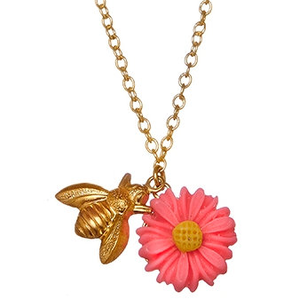 Bee & Flower Necklace