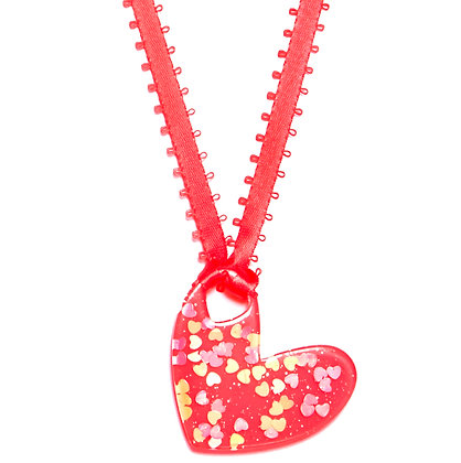 Be Mine Valentine Pendant - Hot Pink/Red