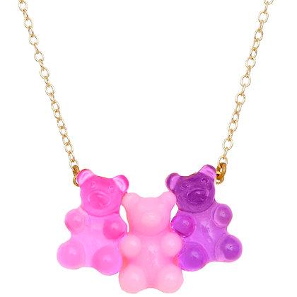 Bubblegum Gummy Bear Necklace