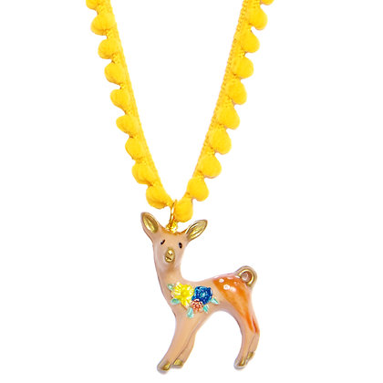 Bambi Fawn Necklace - Yellow