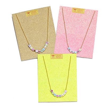 Custom Alphabet Necklaces