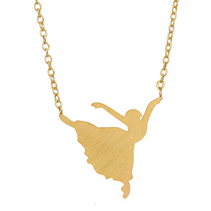 Girl Power Ballerina Necklace