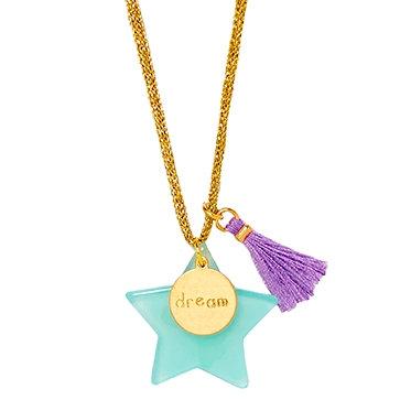 Aqua Large Star Necklace