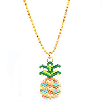 Beaded Necklace - Pineapple
