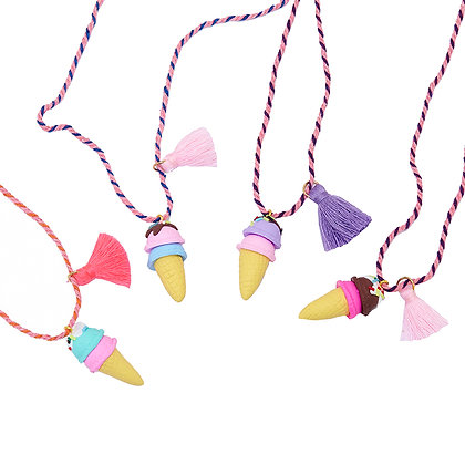 Double Scoop Ice Cream Cone Necklace