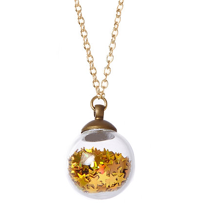 Star Power Crystal Ball Necklace
