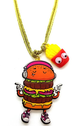 Wacky Boogie Burger Necklace