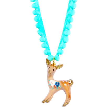 Bambi Fawn Necklace - Aqua