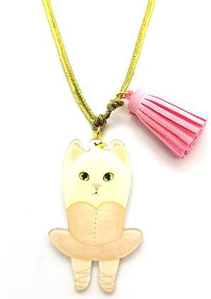 Wacky Ballerina Cat Necklace
