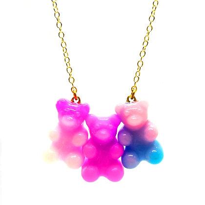 Berry Swirl Gummy Bear Necklace