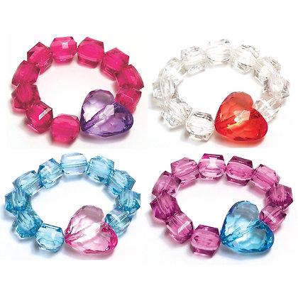 Rock Candy Bracelets - Hearts