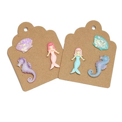 Mermaid Tie Tack Pins