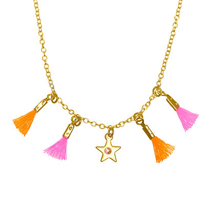 Mini Tassel Necklace (Star)