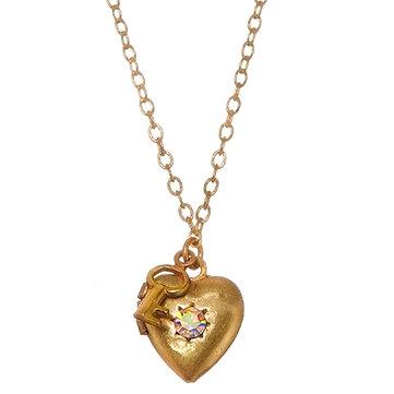 Heart & Key Locket