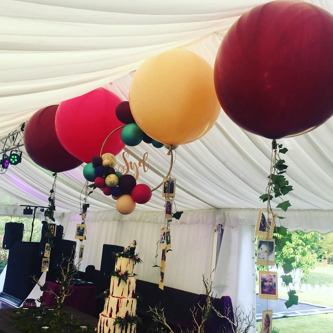 Giant balloons & Hoop garland