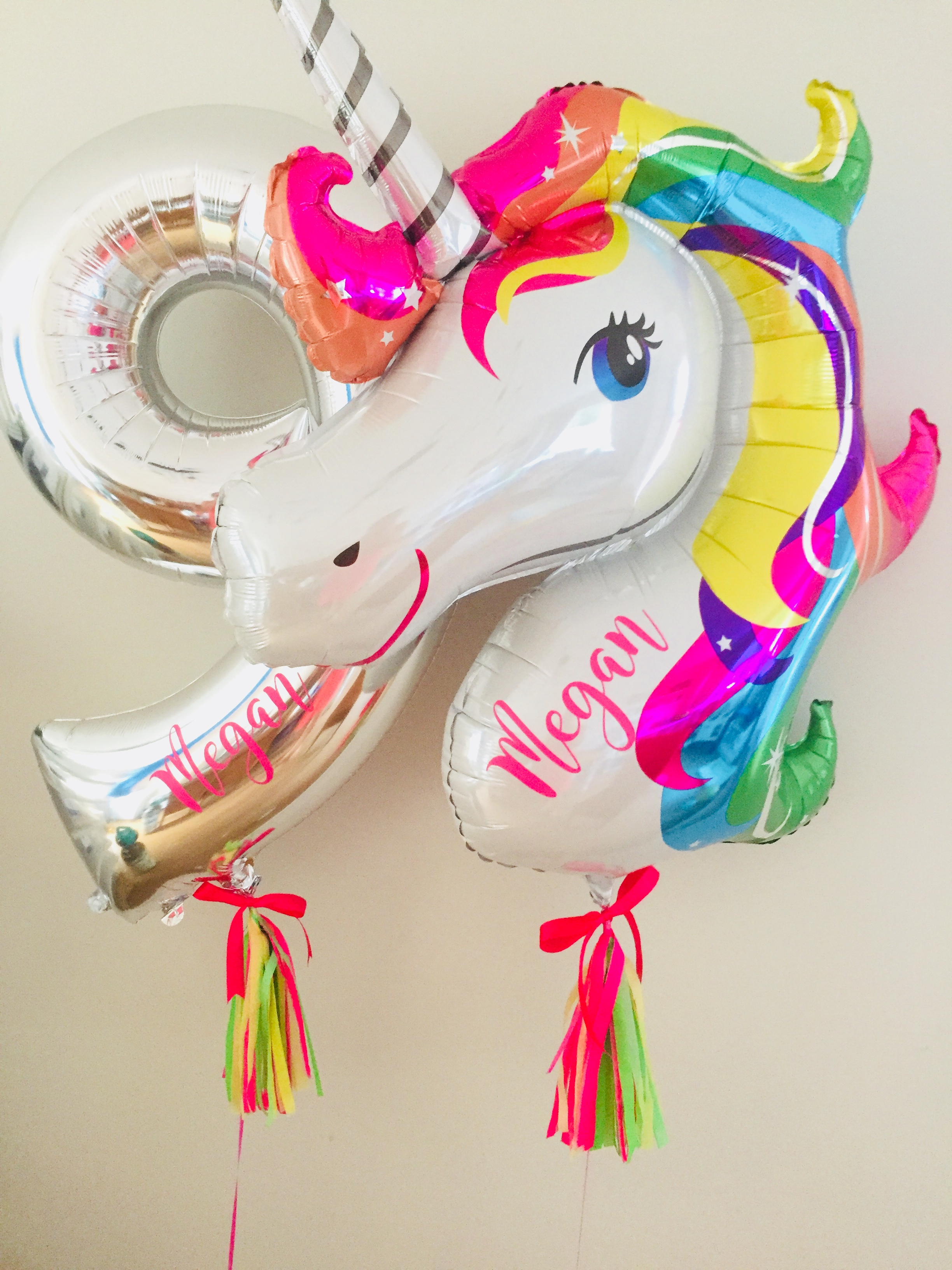 Personalised unicorn & number