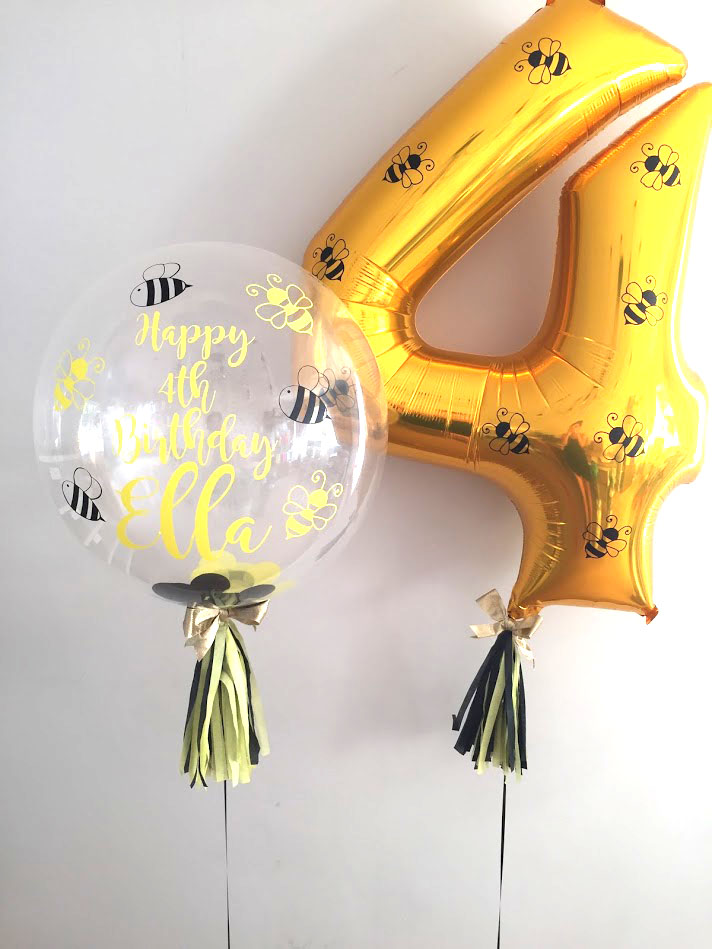 Bubble & number set