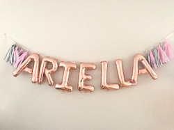 Name garlands with tassels