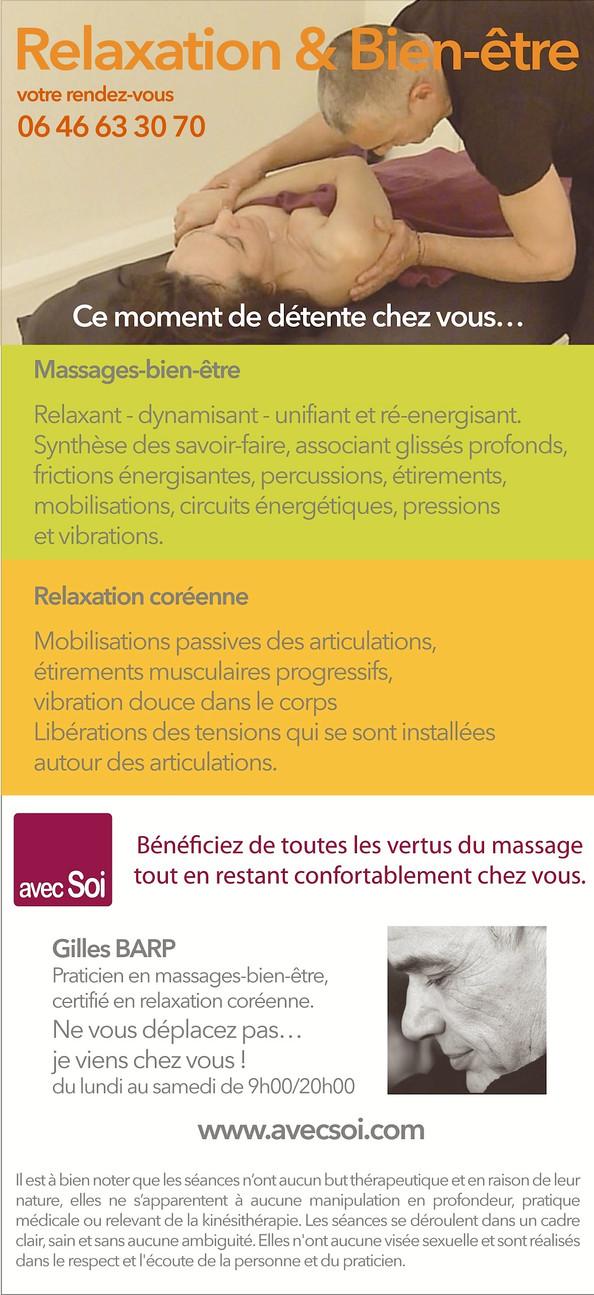 Bénéficiez de toutes les vertus du massage tout en restant confortablement chez vous.