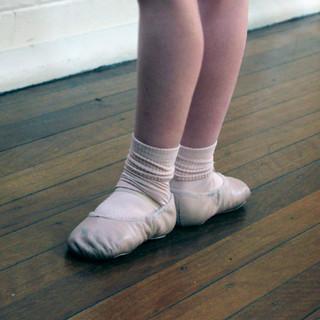 Students undergoing through ballet exams
