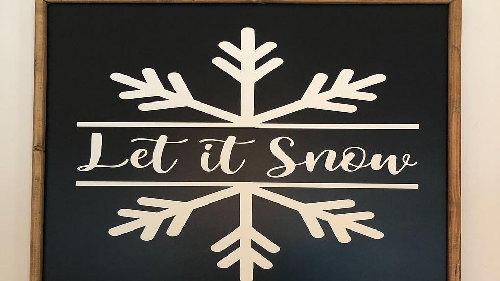 Let it Snow indoor sign