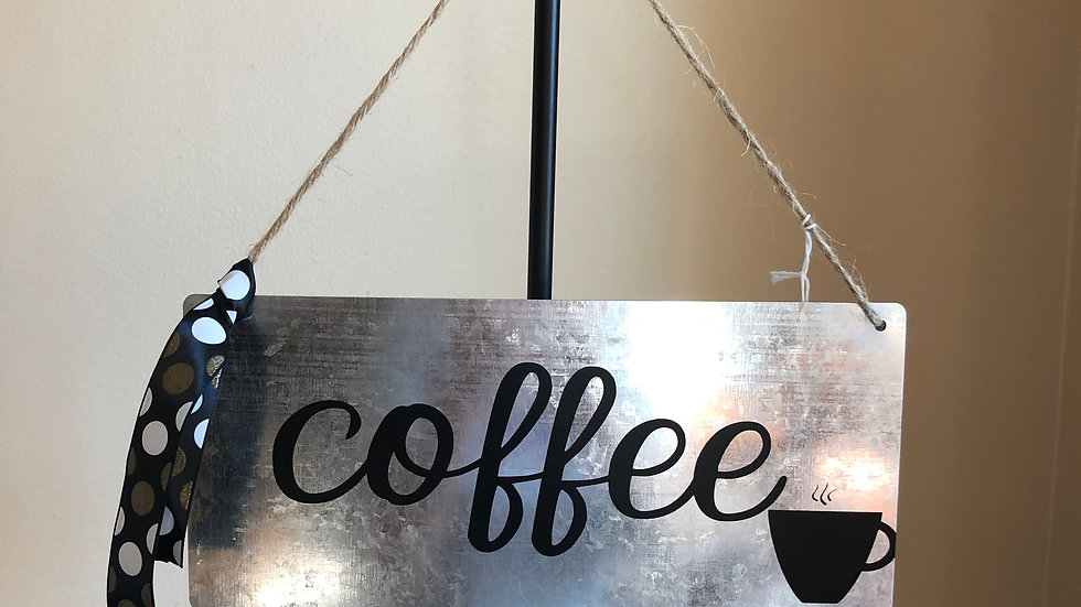 Coffee Lovers tin sign