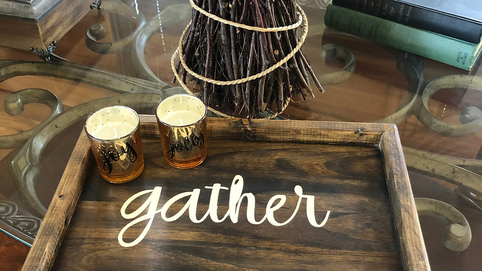 Gather wooden tray