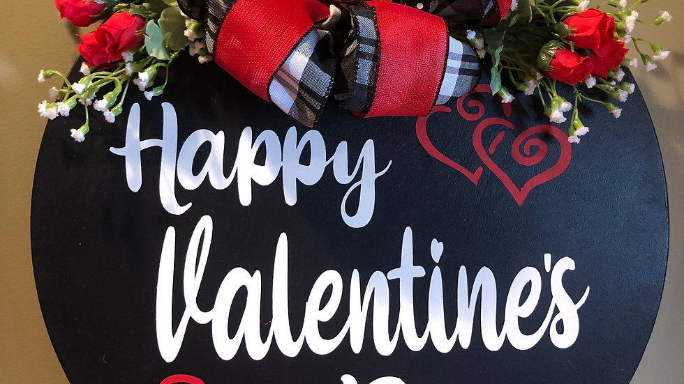 Happy Valentine's Day hanging sign