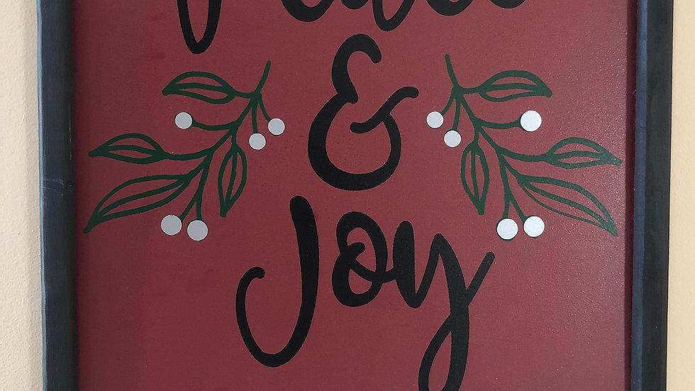 Framed Peace & Joy sign
