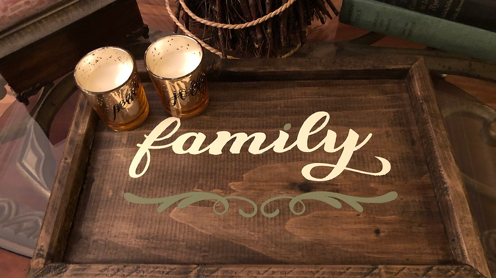 Family wooden tray