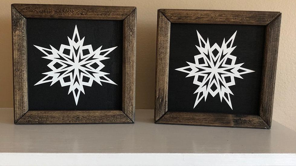 Framed Snowflakes (individual)
