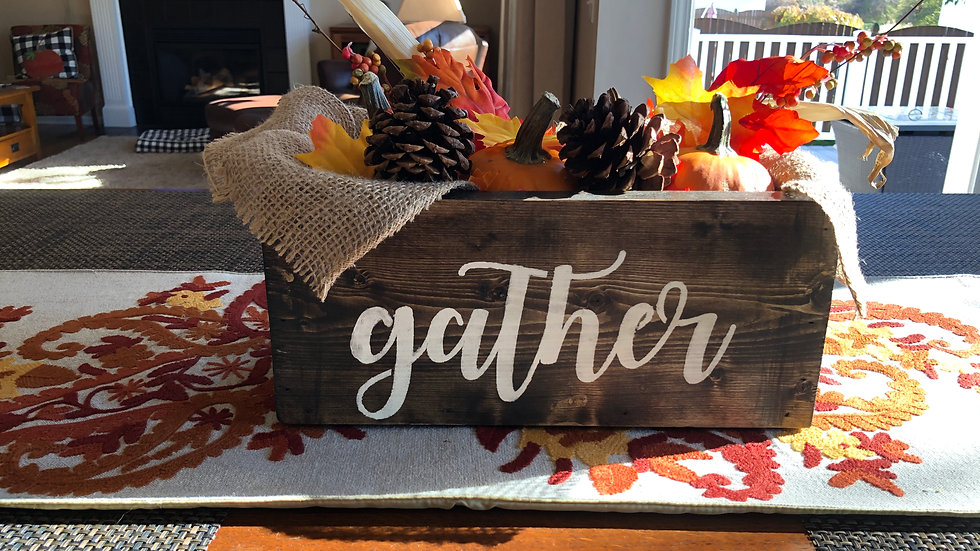 Gather wooden box (not filled)