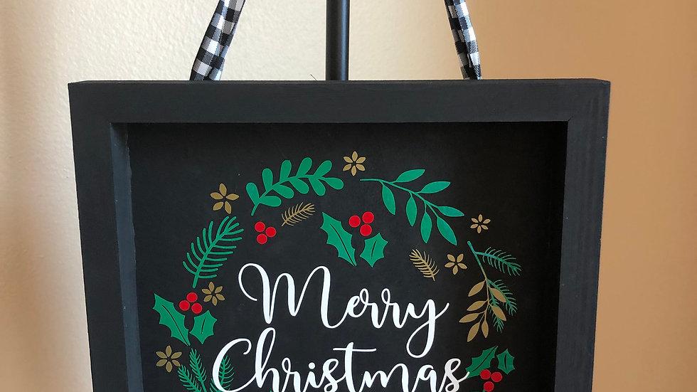Framed Merry Christmas sign