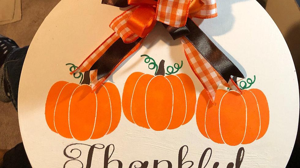 Thankful Holiday hanging sign