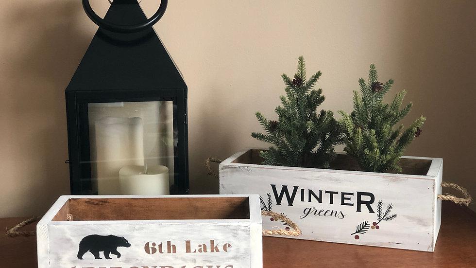 Adirondacks Wood Box