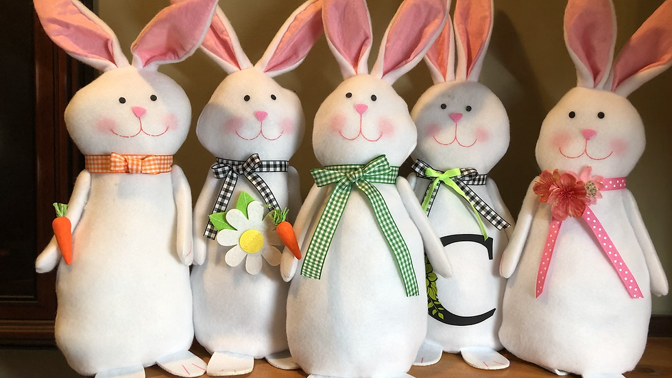 Hippity Hop bunny PERSONALIZE any way you want