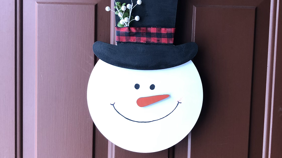 Snowman hanging sign