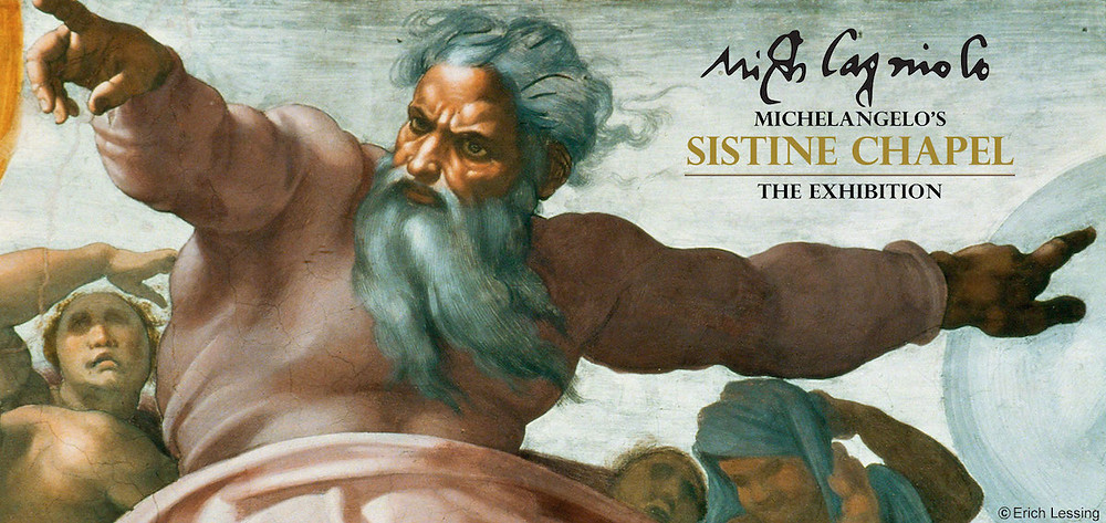 Michelangelo's the exhibition in Sistine chapel, Italy