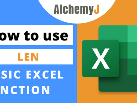 Basic Excel Function - How to use LEN Function