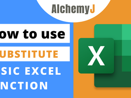 Basic Excel Function - How to use SUBSTITUTE Function