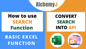 Basic Excel Function - How to use SEARCH Function