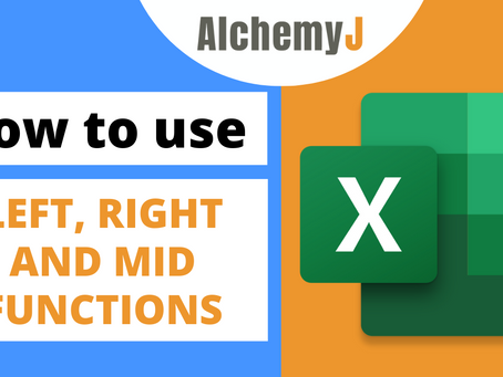 Basic Excel Function - How to use LEFT, RIGHT and MID Functions