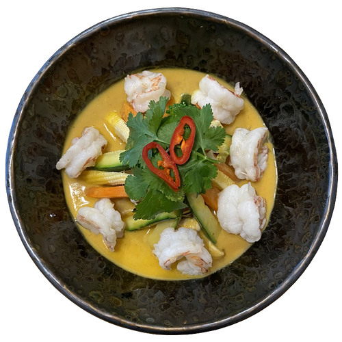 Ram's Thai Yellow Curry Prawns