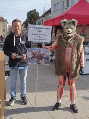Anti - Pelz- Aktion in Offenburg 2020