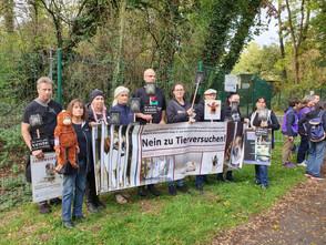 Demo gegen Primatenzucht und Tierversuche in Niederhausbergen 2019