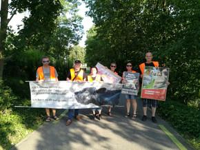 Ampel-Aktion gegen Massentierhaltung in Offenburgin Offenburg 2019