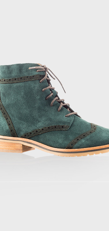 Green Suede Boots