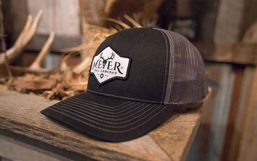 Trucker Hat black front charcoal back